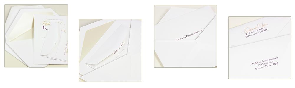 proper way to stuff double wedding envelopes