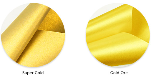 Gold metallic paper: Curious Metallics Super Gold a good replacement for Aspire Petallics Gold Ore