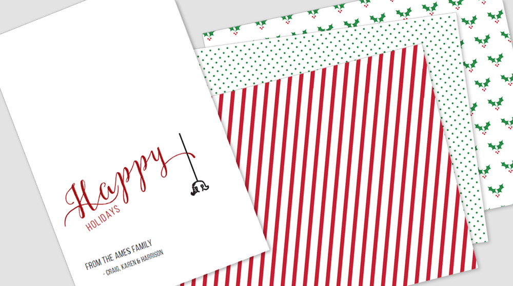 Customizable card and pattern templates for holiday ornament window card