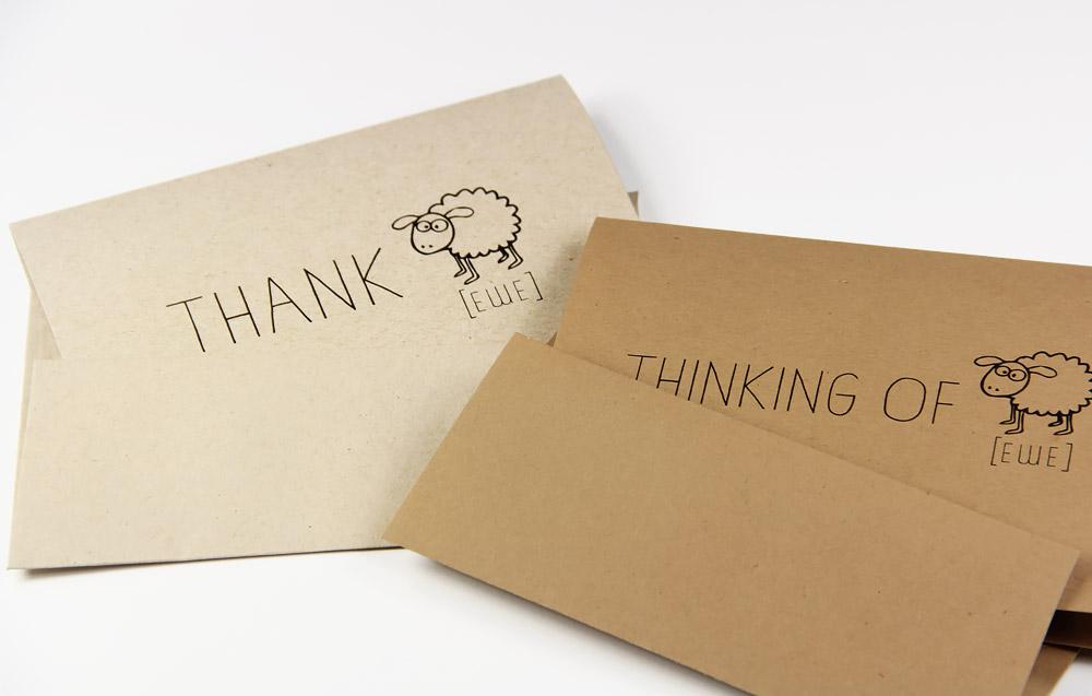 Thank ewe and thinking of ewe cards on Neenah Environment