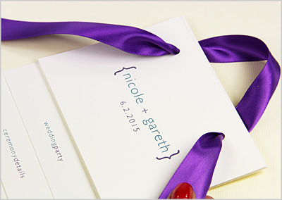 run ribbon through card stock to make hanging fan