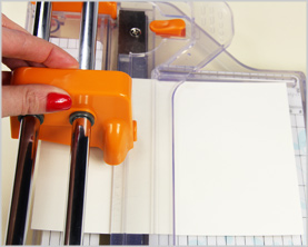 trim 5 x 7 cards with paper trimmer