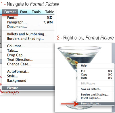 two ways to format a picture in Word