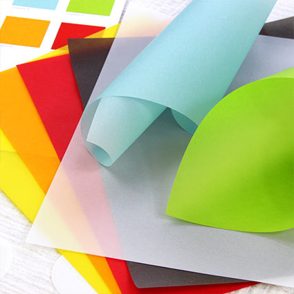 Colorful translucent vellum paper from LCI Paper