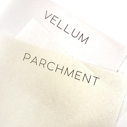 Difference between vellum paper and parchment paper