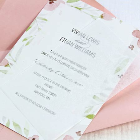 White wedding invitation tissue paper. What thin tissue paper is for in invitations.