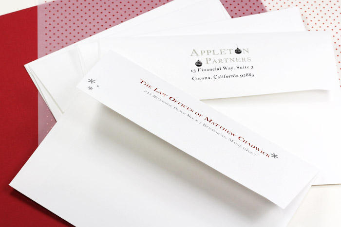Economical bulk pack white wove envelopes for corporate holiday cards