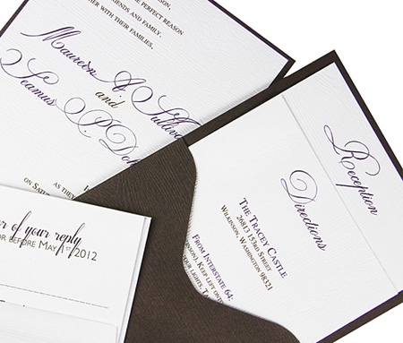 wood grain invitation examples
