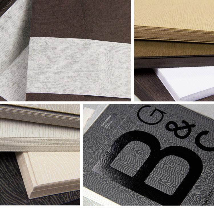 Collage of woodgrain paper design ideas