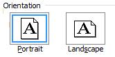 Word orientation setup