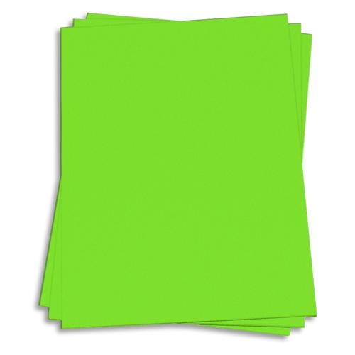 Martian Green Card Stock - 8 1/2 x 11 Astrobrights 65lb Cover