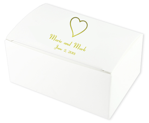 Heart Wedding Cake Boxes