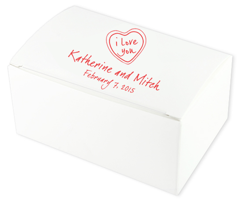 Love Heart Wedding Cake Boxes