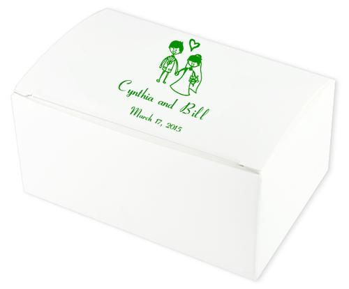 Wedding Couple Wedding Cake Boxes