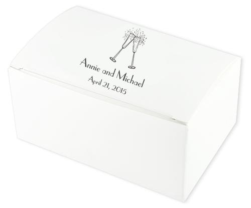 Flutes Wedding Cake Boxes