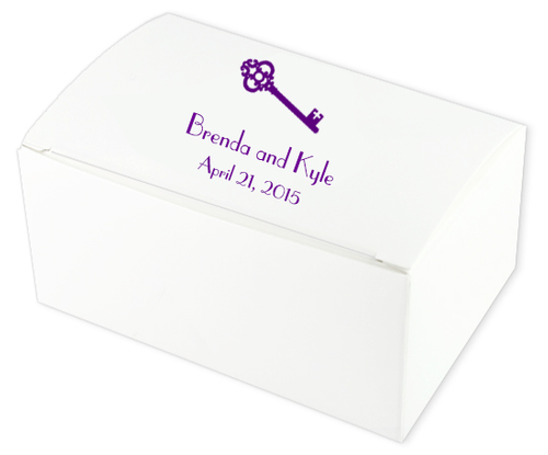 Skeleton Key Wedding Cake Boxes