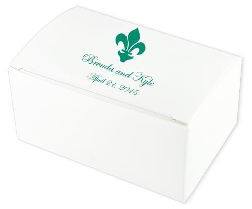 Fleur de Lis Wedding Cake Boxes