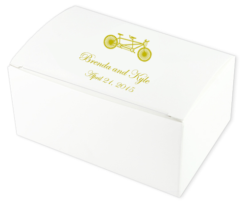 Bike for Two Wedding Cake Boxes