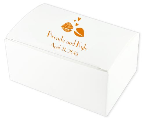 Clam Couple Wedding Cake Boxes