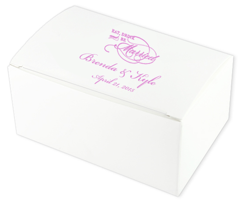 Eat, Drink Married Wedding Cake Boxes