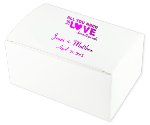 All You Need is Love Wedding Cake Boxes