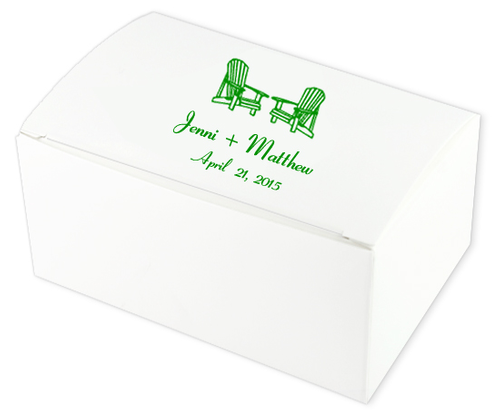 Adirondack Chairs Wedding Cake Boxes