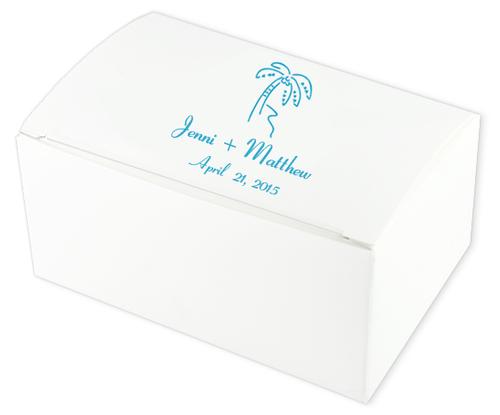 Palm Tree Wedding Cake Boxes