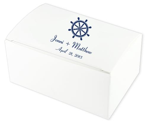 Nautical Wheel Wedding Cake Boxes