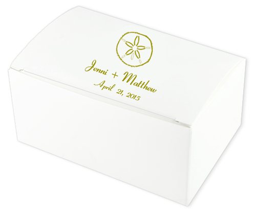 Sand Dollar Wedding Cake Boxes