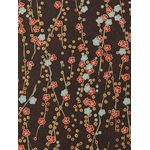 Floral Pattern Brown Brown Paper - 8 1/2 x 11 JPP Silkscreen 47lb Text