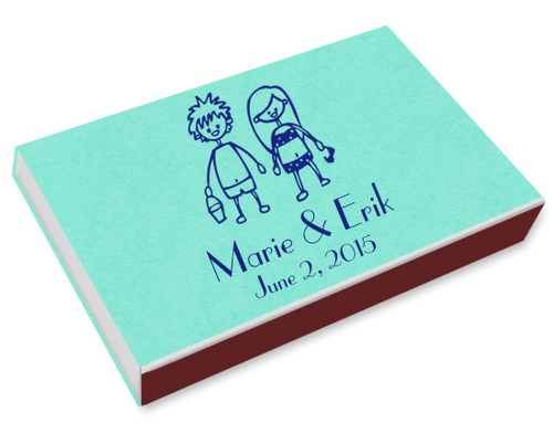 Beach Couple Printed Matchboxes
