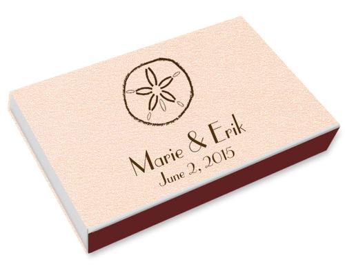 Sand Dollar Printed Matchboxes
