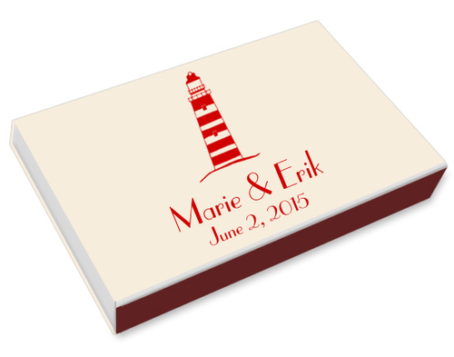 Lighthouse Printed Matchboxes