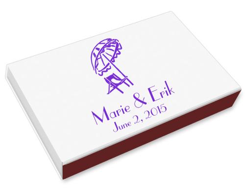 Beach Chair Printed Matchboxes