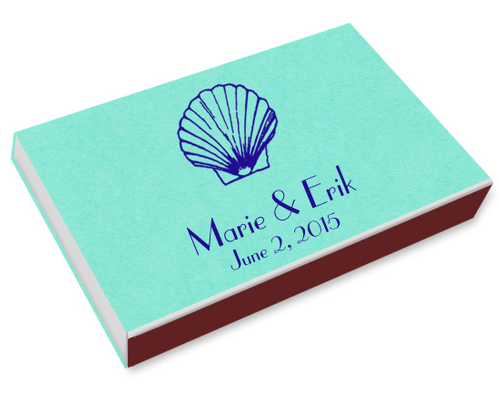 Sea Shell Printed Matchboxes