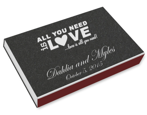 All You Need is Love Printed Matchboxes