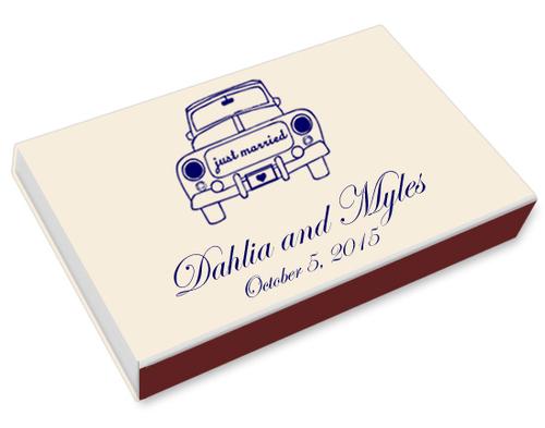 Vintage Wedding Car Printed Matchboxes