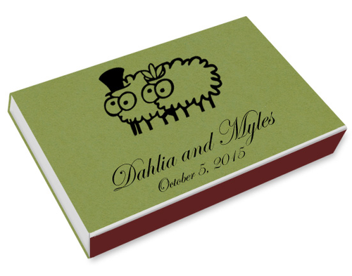 Sheep Couple Printed Matchboxes