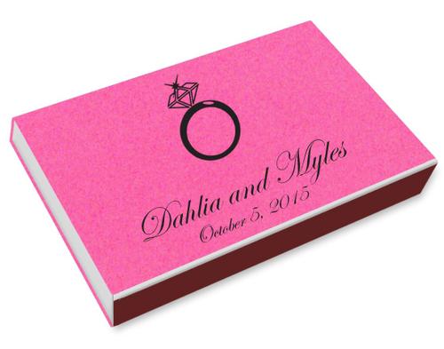 Diamond Ring Printed Matchboxes