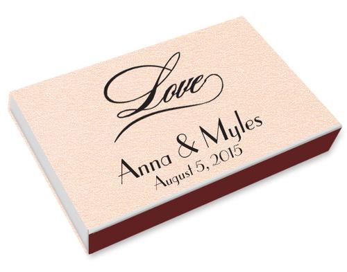 Love Script Printed Matchboxes