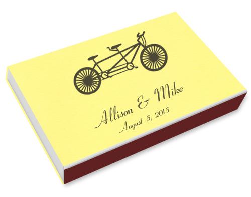 Tandem Bike Printed Matchboxes