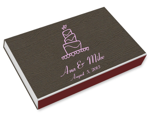 Wedding Cake Printed Matchboxes