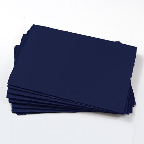 A2 Midnight Blue Deckle Edge Paper - Colors Matt, 111lb Cover