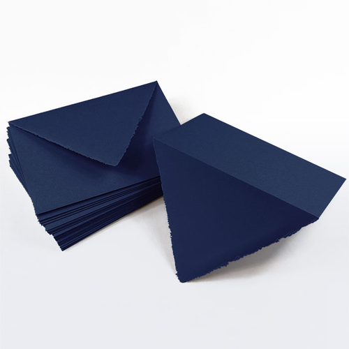 A2 Midnight Blue Deckle Edge Envelopes - Colors Matt, 68T