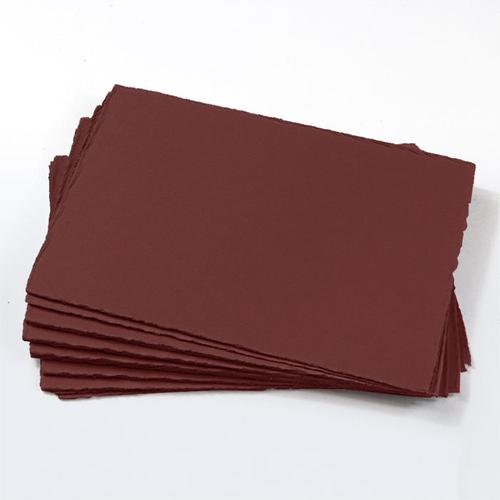 A7 Merlot Deckle Edge Paper - Colors Matt, 111lb Cover
