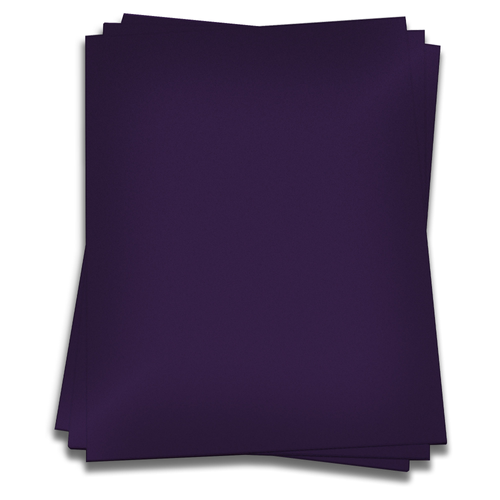 115lb Colors Matt Metallic Grape Folded Place Cards 25 Pack