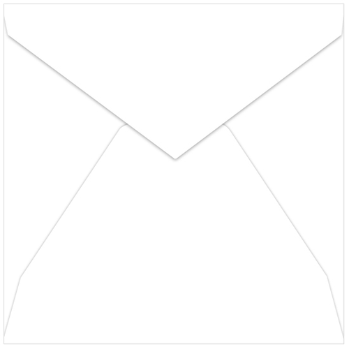 Radiant White Envelopes - LCI Smooth 6 x 6 Pointed Flap 70T