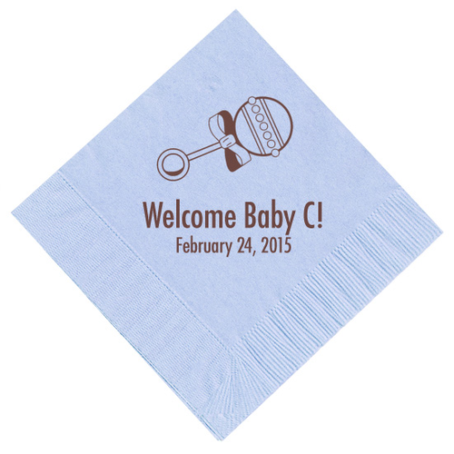 Baby Rattle Personalized Napkins