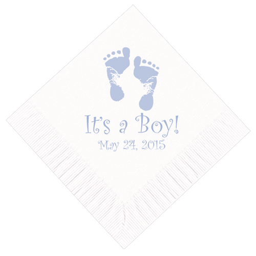 Baby Footprints Personalized Napkins