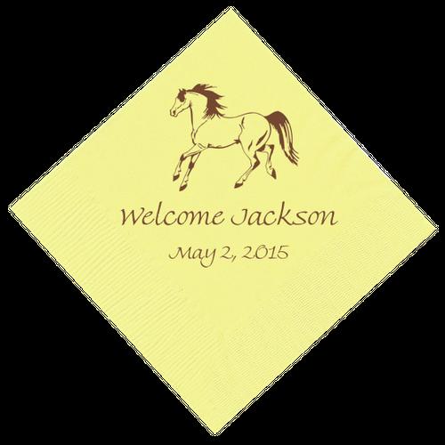 Horse Personalized Napkins